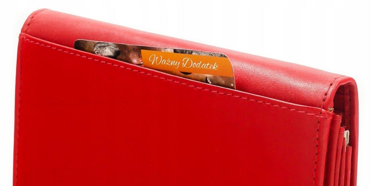 Lekki skórzany portfel damski z biglem i ochroną przed kradzieżą danych