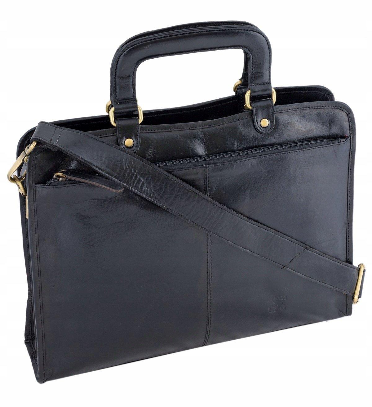 Oryginalna skórzana torba A4 do pracy Always Wild w kolorze czarnym