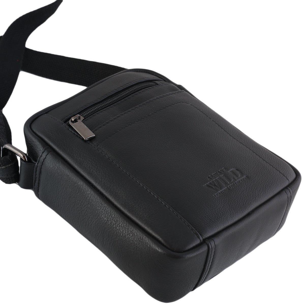 Skórzana niewielka listonoszka, torebka na ramię